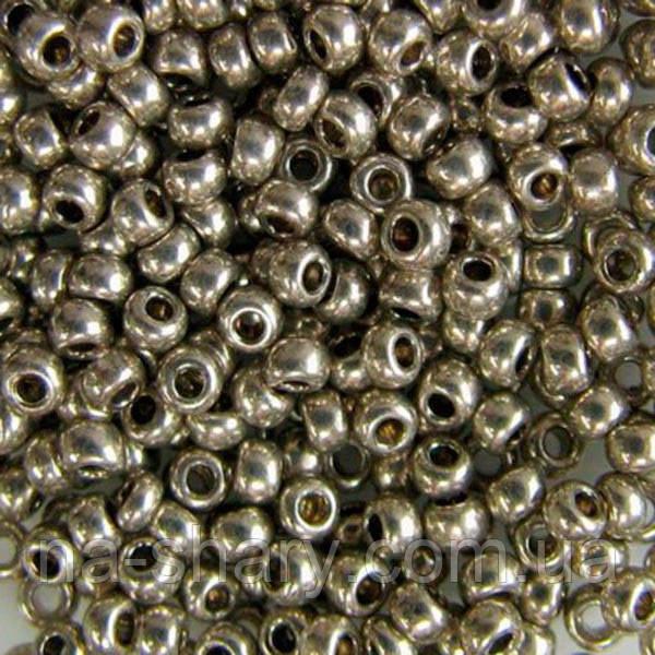 Чешский бисер для рукоделия Preciosa (Прециоза) оригинал 50г 33119-18141-10 Серый