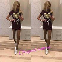 Платье повседневное с сердцем со шнуровкой короткий рукав, фото 3