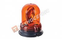 Маячок проблисковий універсальний помаранчевий зі стробоскопом 12 вольт (кріплення болтами) Е-01 Турція