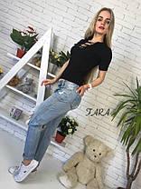 Кофта с коротким рукавом и шнуровкой трикотаж, фото 3
