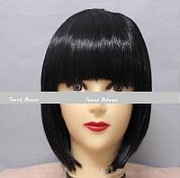 Новинка! Женский элегантный модный парик для вечеринок, стрижка каре боб, прямые волосы с челкой, цвет черный