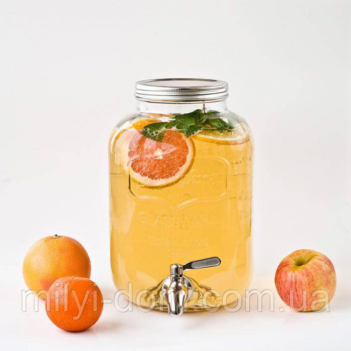 Лимонадница Йоркшир, 5л, МЕТАЛЕВИЙ кран (лимонадник, диспенсер)