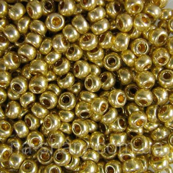 Чешский бисер для рукоделия Preciosa (Прециоза) оригинал 50г 33119-18151-10 Золотистый