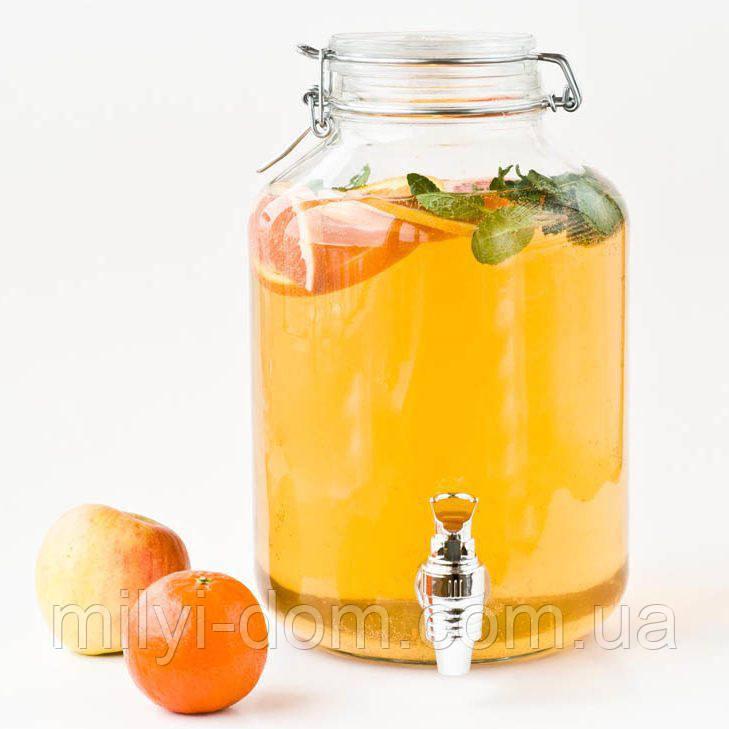 Лимонадник Бормиоли, 5л, кран- пластик (лимонадник, диспенсер), Италия