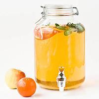 Лимонадник Бормиоли, 5л, кран- пластик (лимонадник, диспенсер), Италия, фото 1