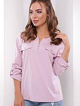 Женская однотонная блузка с рукавом 3/4 (1777 mrs), фото 2