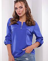 Женская однотонная блузка с рукавом 3/4 (1777 mrs), фото 3