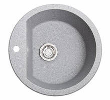 Кухонна мийка гранітна РАУНД сірий