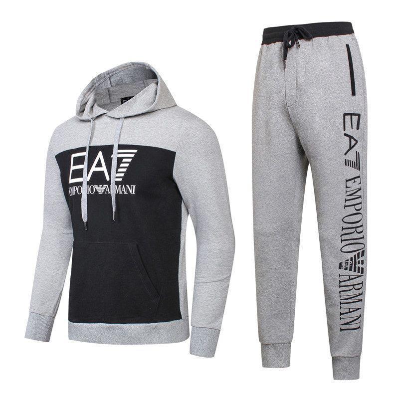 Спортивный костюм EA7 Emporio Armani Athletic Cotton Tracksuit 8826 L Серый (8826)