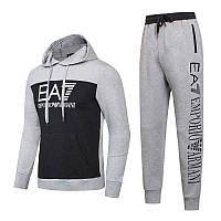 17ebed2f454af1 Спортивный костюм EA7 Emporio Armani Athletic Cotton Tracksuit 8826 L Серый  (8826)