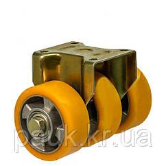 """Колесо 5607-MTS3-126-B(56 """"Medium Top Special"""") Ø 125 мм, неповоротное тройное усиленное с крепежной панелью"""
