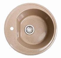 Кухонная мойка гранитная КЛАССИК розовая