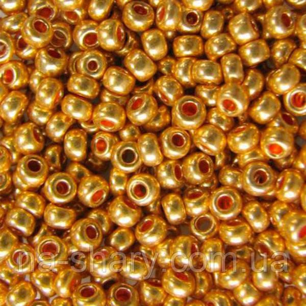 Чешский бисер для рукоделия Preciosa (Прециоза) оригинал 50г 33119-18581-10 золотистый