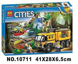 "Конструктор Bela 10711 ""Пересувна лабораторія в джунглях"", аналог Lego City 60160"
