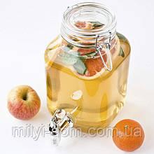 Лимонадник Бормиоли, 3л, (лимонадник, диспенсер), кран-пластик, Италия
