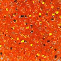 Чешский бисер для рукоделия Preciosa (Прециоза) оригинал 50г 33129-97000-10 оранжевый