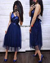 Платье нарядное низ фатин верх атлас с бантом, фото 2