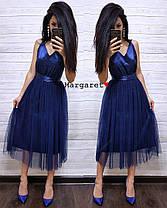 Платье нарядное низ фатин верх атлас с бантом, фото 3