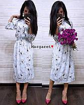 Платье летнее талия на резинке свободное софт, фото 3