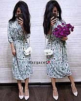 Платье летнее талия на резинке свободное софт, фото 2