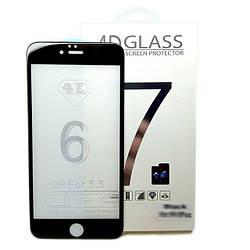 Защитное стекло Premium для Apple iPhone 6/6S Plus 4D Full Cover Black