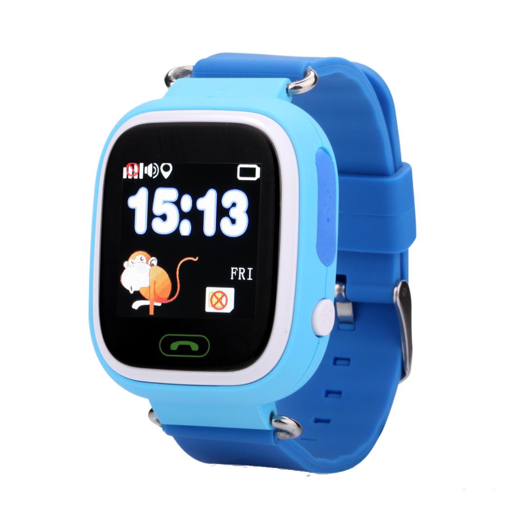Детские смарт-часы Q100 с GPS Голубые (12822)