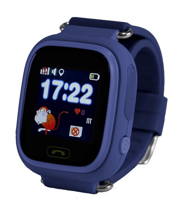 Детские смарт-часы Q100 с GPS Синие (12140)