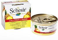 Влажный корм консервы для кошек Schesir (Шезир)  КУРИЦА С АНАНАСОМ (Chicken Pineapple) банка 0.075 кг