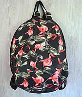 Стильный универсальный рюкзак с накаткой цветы, ассортимент цветов