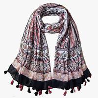 Женский шарф нежный богемный стиль