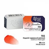 Акварельна фарба Rosa Gallery в кюветах 2.5 мл Кадмій червоний світлий