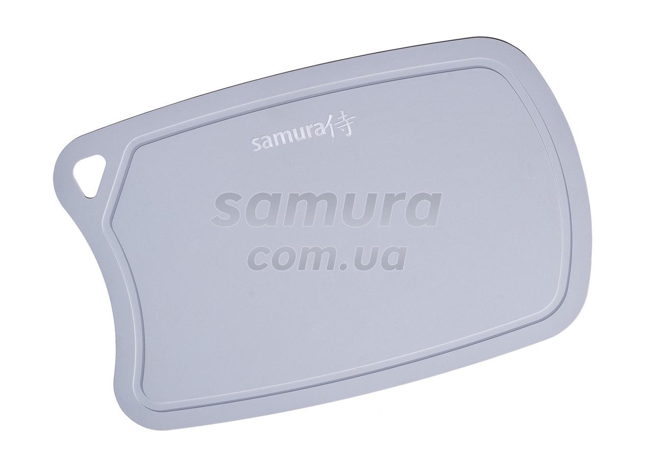 Доска разделочная термопластиковая с антибактериальным покрытием, Samura Fusion, серая (SF-02G)