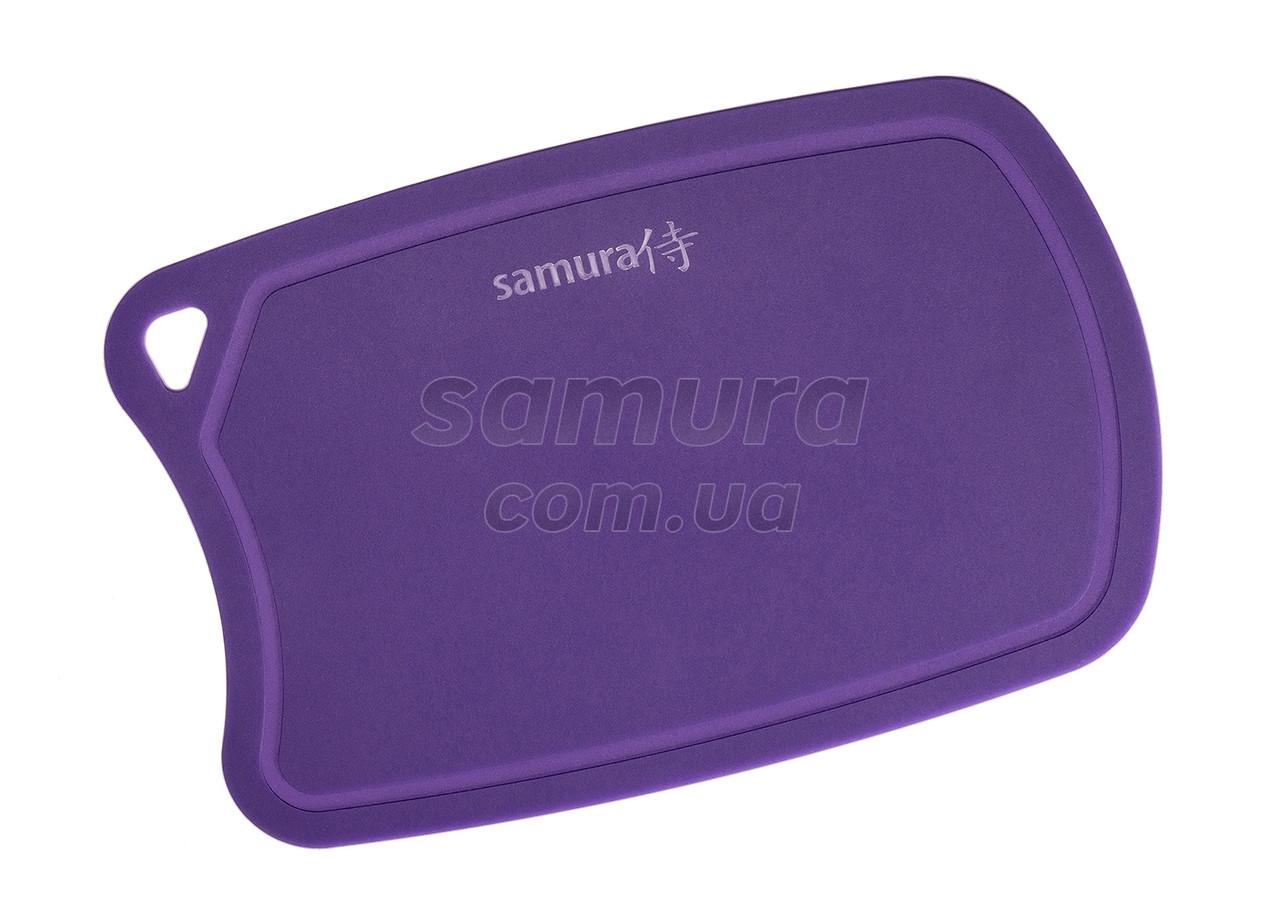 Доска разделочная термопластиковая с антибактериальным покрытием, Samura Fusion, сиреневая (SF-02V)