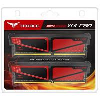 Модуль памяти для компьютера DDR4 16GB (2x8GB) 2400 MHz T-Force Vulcan Red Team (TLRED416G2400HC14DC01)