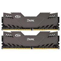 Модуль памяти для компьютера DDR4 8GB (2x4GB) 2400 MHz Dark Gray Team (TDGED48G2400HC14DC01)