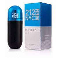 Мужская туалетная вода Carolina Herrera 212 NYC Men Pills 80 ml (Лицензия Люкс) (Реплика)
