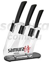 Набор из 3-х керамических ножей и подставки, Samura Eco-ceramic (SKC-001)