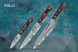 Набор из 3-х кухонных ножей Поварская тройка в подарочной упаковке, Samura KAIJU (SKJ-0220), фото 3