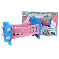 Игрушка Кроватка для куклы 57 х 31 х 27 см ТехноК,  4173