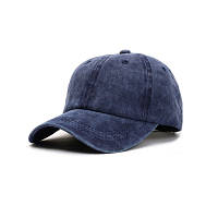 Женская кепка однотонная синяя, фото 1