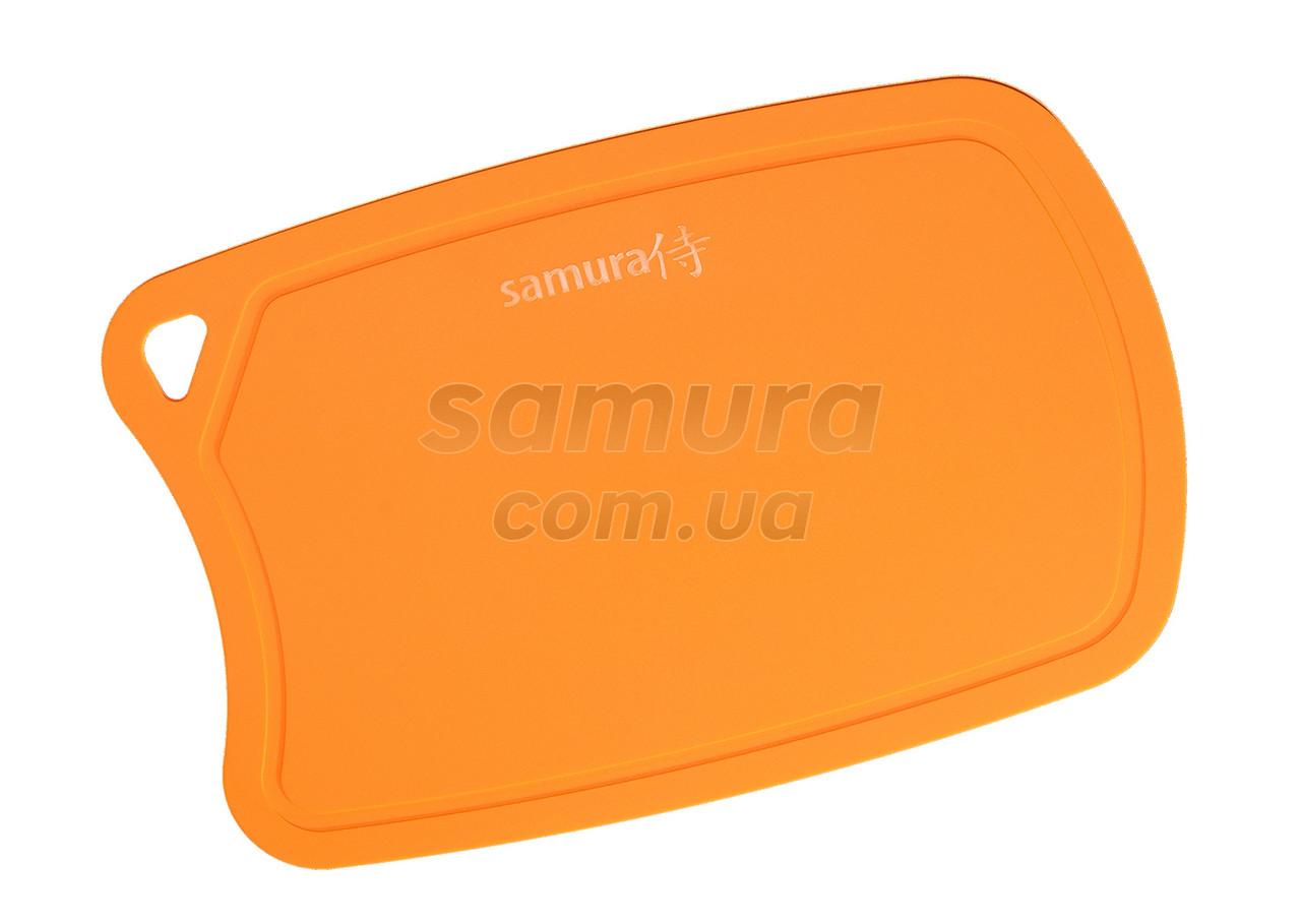 Доска разделочная термопластиковая с антибактериальным покрытием, Samura Fusion, оранжевая (SF-02OR)