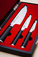 Набор из 3-х кухонных ножей (овощной, универсальный, Шеф) в подарочной коробке, Samura Mo-V (SM-0220), фото 4