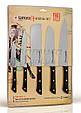 Набор из 5-ти кухонных ножей (овощной, универсальный, Накири, Шеф, Сантоку), Samura Harakiri (SHR-0250B), фото 2