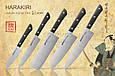 Набор из 5-ти кухонных ножей (овощной, универсальный, Накири, Шеф, Сантоку), Samura Harakiri (SHR-0250B), фото 3