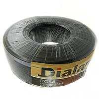 Коаксиальный кабель Dialan RG58U 0.80 мм (цветной экран) 50 Ом 100м