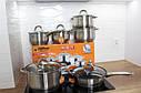 Набор каструль + сковорода 12 эл. индукция HOFFNER 4450, фото 4