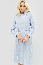Полосатое хлопковое платье с поясом из основной ткани (Itan crd), фото 2