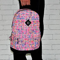 Яркий рюкзак. Принт №7. Розовый. Отличное качество.