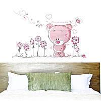 """Интерьерная виниловая наклейка на стену в детскую """"Медвежонок"""", фото 1"""