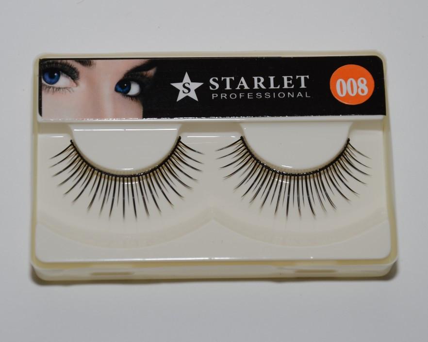 Ресницы цельные накладные многоразового использования Starlet Professional ROM 008 /06-0